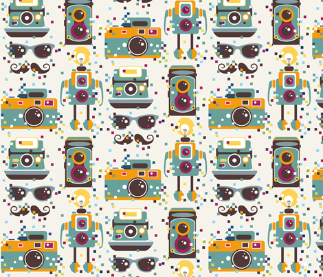 Geek Chic fabric by theboutiquestudio on Spoonflower - custom fabric