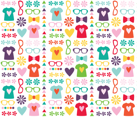 CrystalWilkerson_GeekChic_Entry fabric by creativitybycrystal on Spoonflower - custom fabric