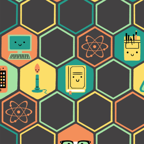 Geek Chic fabric by ericwight on Spoonflower - custom fabric