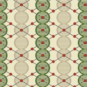 Geek Chic DNA Atom Molecule Argyle