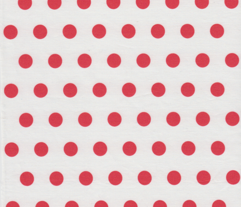 Deep Red Polkadots