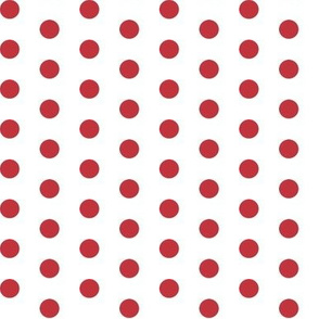 Deep Red Polkadots