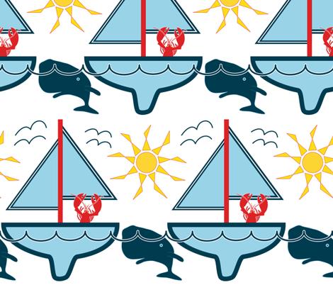 Yo Whale fabric by likarish on Spoonflower - custom fabric