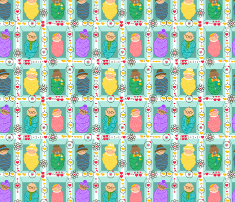 Geek + Chic = <3 fabric by beebumble on Spoonflower - custom fabric