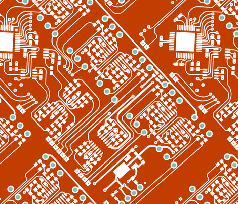 Circuit Board fabric by lauradejong on Spoonflower - custom fabric