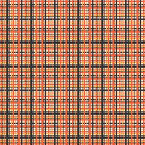 Sunburst 70's Plaid - Small