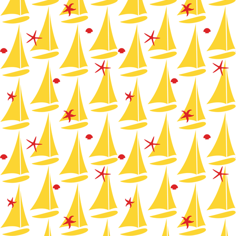 Sure Sails - Yellow fabric by sheila_marie_delgado on Spoonflower - custom fabric
