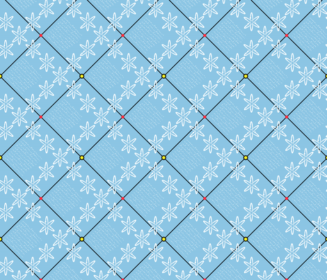 Atoms checked! fabric by moirarae on Spoonflower - custom fabric
