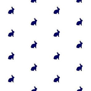 Bunny Navy Polka Dot