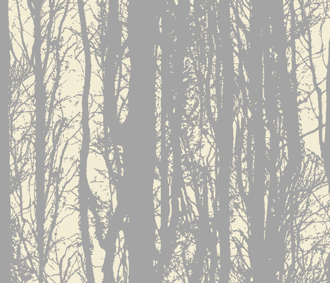 Silver Birch Forest fabric by lovekittypink on Spoonflower - custom fabric