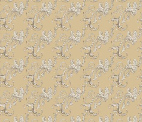 Swirls_Camel fabric by lana_gordon_rast_ on Spoonflower - custom fabric