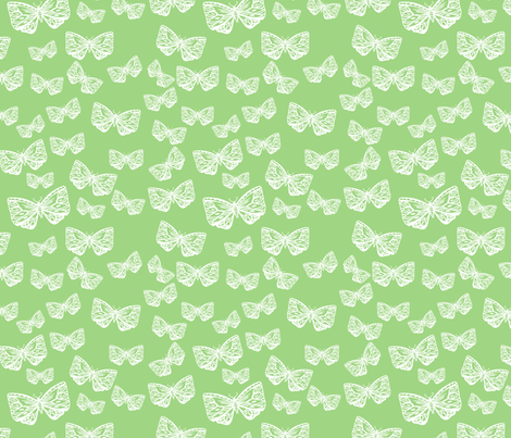 Vintage Moth in APPLE fabric by thistleandfox on Spoonflower - custom fabric