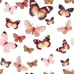 Butterfly Rose Gold // Large
