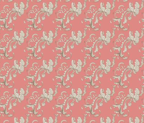 Swirls_Rose fabric by lana_gordon_rast_ on Spoonflower - custom fabric