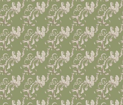 Swirls_Green fabric by lana_gordon_rast_ on Spoonflower - custom fabric