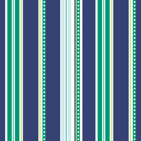 Polka Stripe navy fabric by jillbyers on Spoonflower - custom fabric