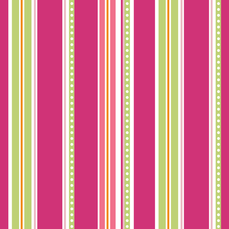 Polka Stripe pink fabric by jillbyers on Spoonflower - custom fabric