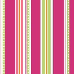 Polka Stripe pink