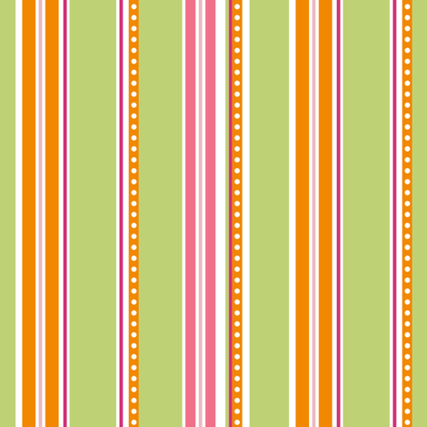Polka Stripe green fabric by jillbyers on Spoonflower - custom fabric