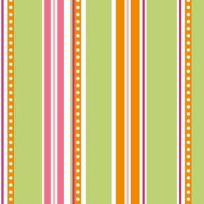 Polka Stripe green