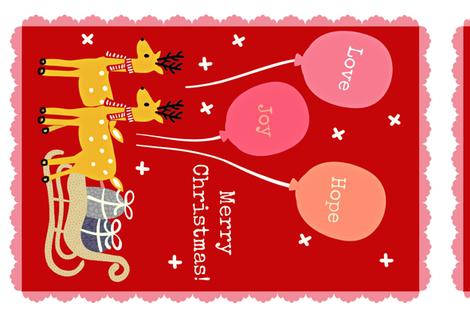 Christmas Tea Towel fabric by susan_polston on Spoonflower - custom fabric