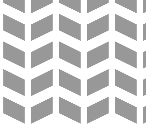 Modern Cottage ~ Herringbone Grey & White fabric by peacoquettedesigns on Spoonflower - custom fabric