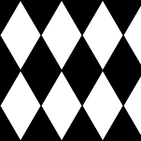 Harlequin Diamonds ~ Black & White fabric by peacoquettedesigns on Spoonflower - custom fabric