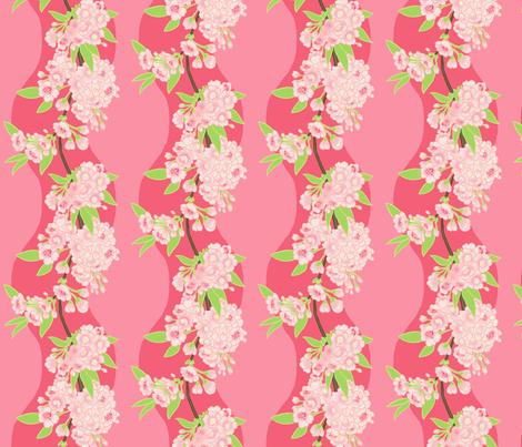 Sakura Chain Pink fabric by aimee on Spoonflower - custom fabric