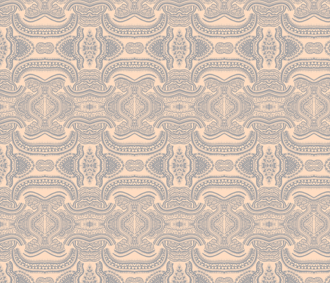 grey cream-ed fabric by kelseyyyy on Spoonflower - custom fabric