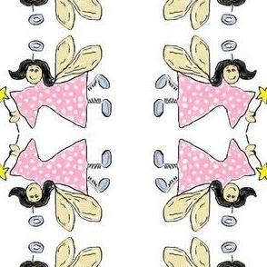 Fairy Angel Pink Polkadots