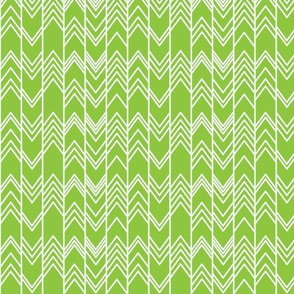 Green Ikat ziggy - Chevron Herringbone