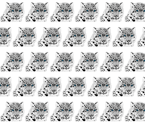 SNOW LEOPARD fabric by bluevelvet on Spoonflower - custom fabric