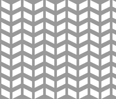 Modern Cottage ~ Herringbone White & Grey fabric by peacoquettedesigns on Spoonflower - custom fabric