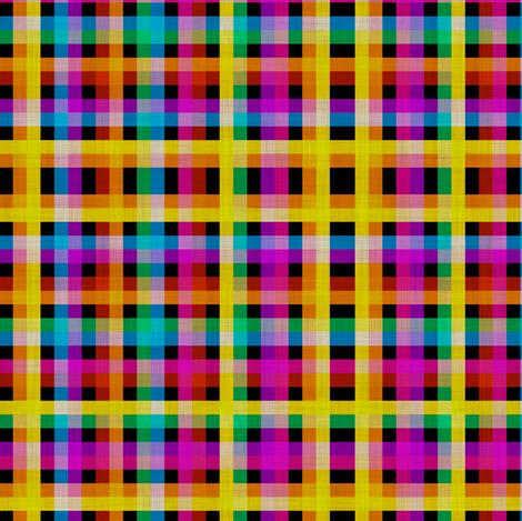 Rainbow Tartan fabric by glanoramay on Spoonflower - custom fabric