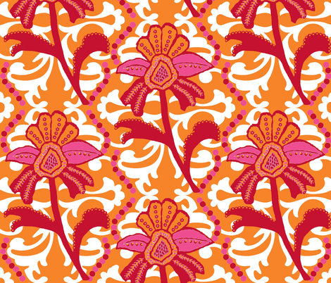 Annie's Sunshine Mod fabric by paragonstudios on Spoonflower - custom fabric