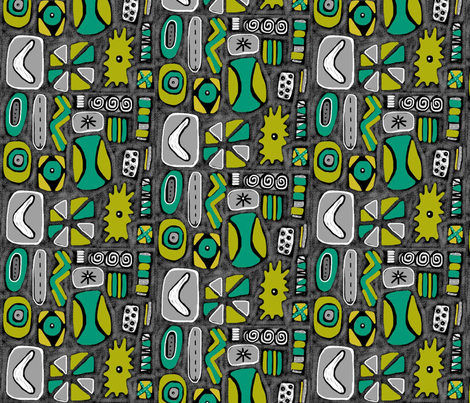 Mod Rocks Grey fabric by slumbermonkey on Spoonflower - custom fabric