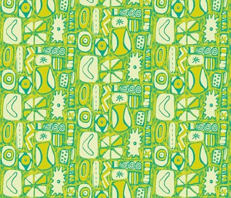 Mod Rocks Lime fabric by slumbermonkey on Spoonflower - custom fabric