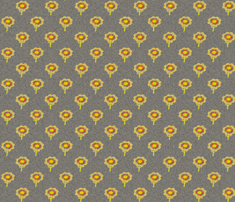 flowe_yellow_field_w fabric by playbox_ on Spoonflower - custom fabric