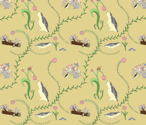 Hedge Your Bets (On Spring) fabric by emmaradke on Spoonflower - custom fabric