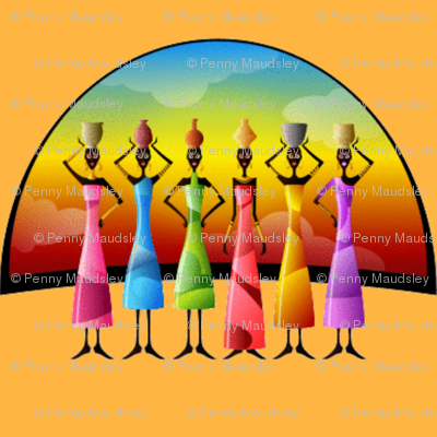 AFRICAN WOMEN SUNSET