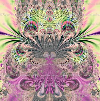 Fractal: Peacock Feathers Bouquet