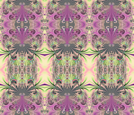 Fractal: Peacock Feathers Bouquet fabric by artist4god on Spoonflower - custom fabric