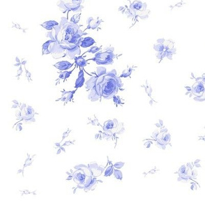 Watercolor Roses in Blue Violet