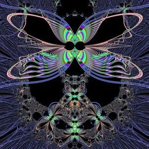 Fractal: Dragonfly Queen at Midnight