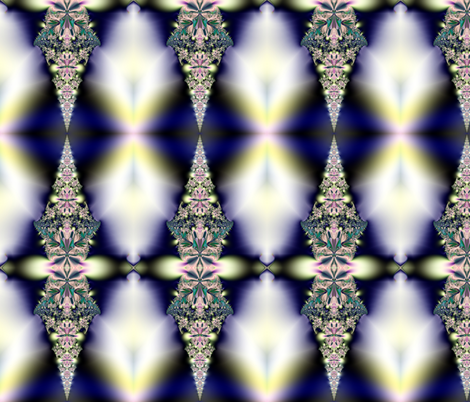 Fractal: Jeweled Icicles fabric by artist4god on Spoonflower - custom fabric