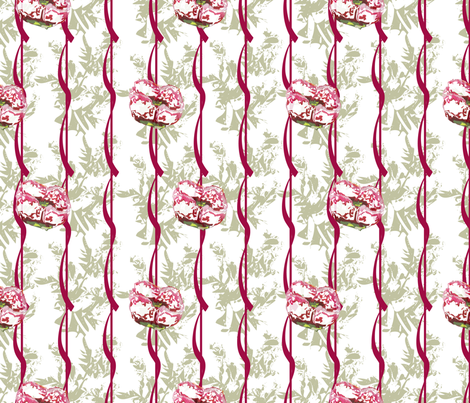 Holiday (from the Poppy Ribbons Collection - gray) fabric by moxieart on Spoonflower - custom fabric