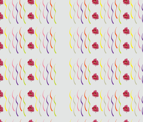 Confetti Ribbons (from the Poppy Ribbons Collection - gray) fabric by moxieart on Spoonflower - custom fabric