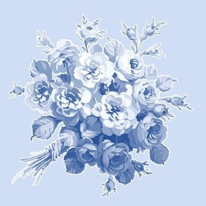 Jane's Rose Bouquet in Blueberry Blue