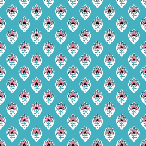 Soleiado Pop Flower Blue fabric by vannina on Spoonflower - custom fabric