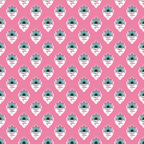 Soleiado Pop Flower Pink fabric by vannina on Spoonflower - custom fabric
